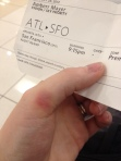 airline ticket photo